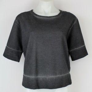 J Brand Grey Short Sleeve Top Size Large